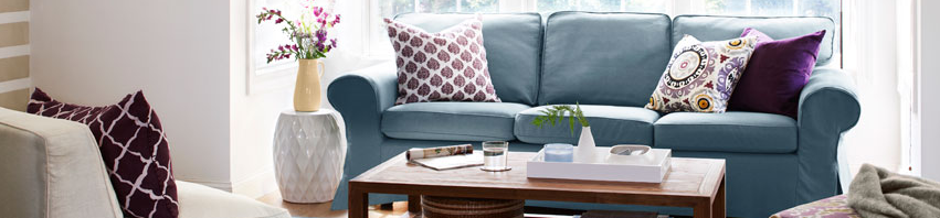 Living Room: How To Style A Pouf - She\'s Charming